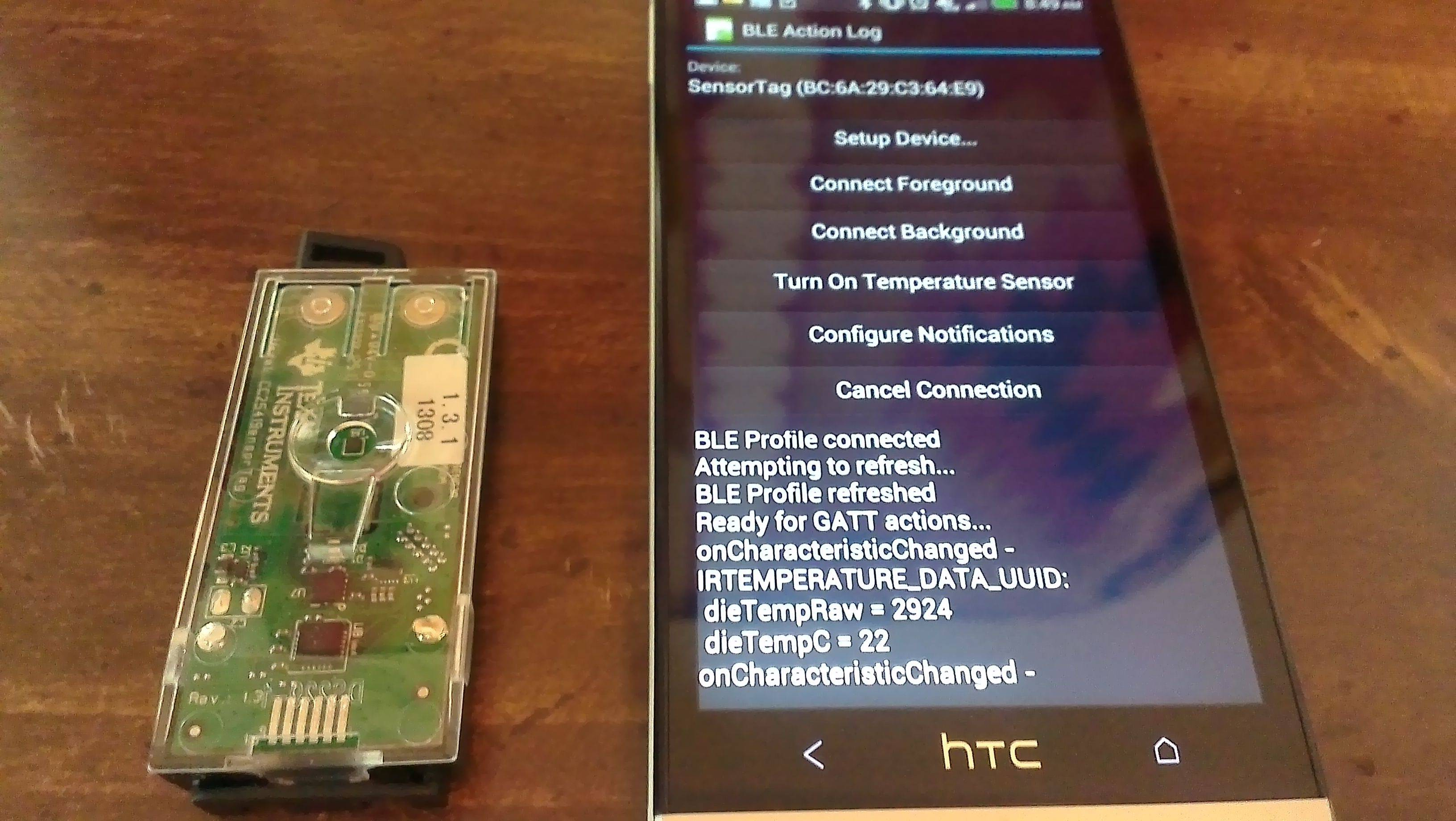 HTCdev - OpenSense SDK | Bluetooth Low Energy